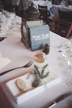 decoration mariage montagne