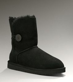 UGG BAILEY BUTTON 5803 BOOTS BLACK CLASSICAL