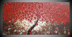 pintura acrílico de 120 x 60 cm árbol lienzo Art por acrylkreativ
