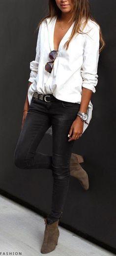 #street #style / leather pants Más