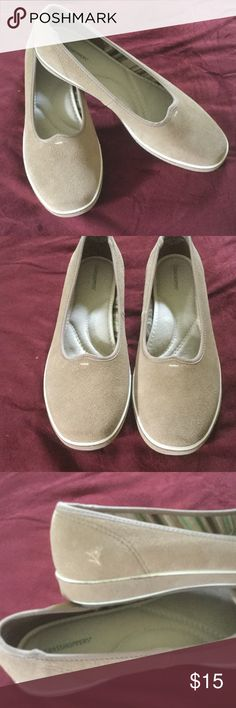 Grasshopper shoes size 8M Grasshopper loafers size 8M, suede texture, tan, NWOT, comfort insole, too small for me, great shoes grasshopper Shoes Flats & Loafers
