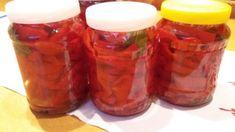 Piros szeletelt paprika télire