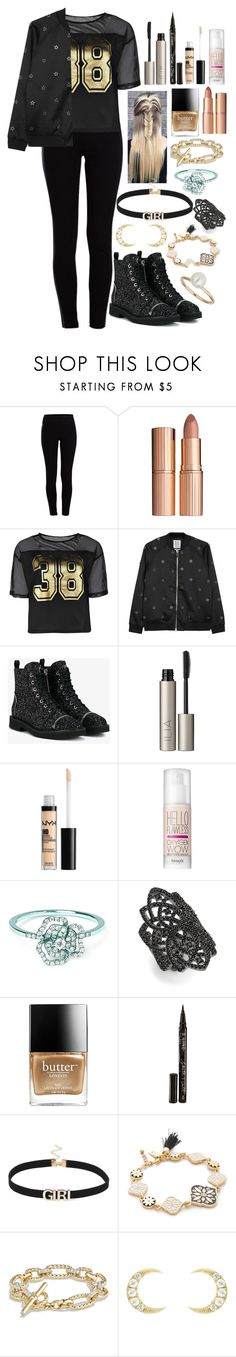 """No2 Oc Hunter-Outfit 2"" by moon-and-starss ❤ liked on Polyvore featuring Pieces, Charlotte Tilbury, Boohoo, Zoe Karssen, Giuseppe Zanotti, Ilia, Benefit, AS29, nOir and Butter London"