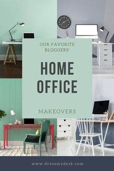 Be Inspired from Our Favorite Influencers and their Home Office Design Makeovers Home Office Setup, Home Office Design, House Design, Craft Room Decor, Living Room Decor, Man Cave And She Shed, Office Organization Tips, Desk Styling, Blogger Home