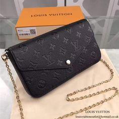 Louis Vuitton M64064 Pochette Felicie Chain Wallet Monogram Empreinte Leather