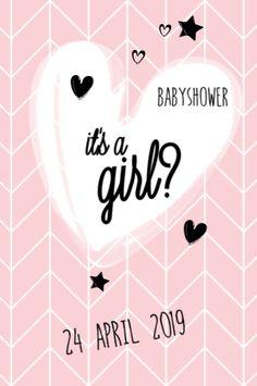 lovz.nl   babyshower uitnodigingskaart   scandinavisch design   meisje   zelf maken