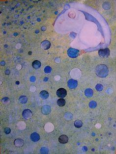 ARTES, DESARTES E DESASTRES CONTEMPORÂNEOS.: Junho - Julho de 2011 Canção para uma menina sonhar Técnica mista: Acrílica e colagem sobre tela