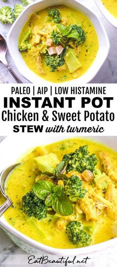 Low Histamine Instant Pot Chicken Healthy Chicken Recipes, Paleo Recipes, Real Food Recipes, Soup Recipes, Cooking Recipes, Dinner Recipes, Breakfast Recipes, Healthy Soups, Healthy Dinners