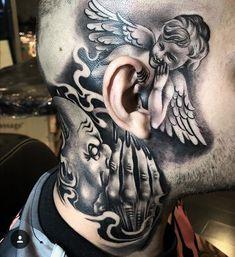 42 Amusing Pics and Images That Will Entertain You neck tattoos 42 Amusing Pics and Images That Will Entertain You Evil Tattoos, Dope Tattoos, Head Tattoos, Skull Tattoos, Body Art Tattoos, Sleeve Tattoos, Tatoos, Hals Tattoo Mann, Tattoo Hals