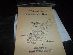 Vintage Kadena Air Force Base Welcome Guide Okinawa Map Activities Mess Hall
