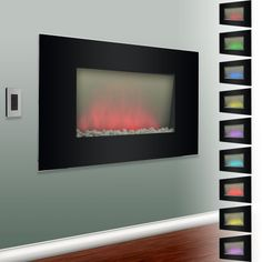 Verona Color Changing Electric Fireplace Heater I Want One Electric  Fireplace Heater, Electric Fireplaces,