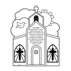 Our Color Your Own Prayer Pictures are a great way to get children involved and learning during Mass, class and religious education gatherings. Prayer Pictures, Thy Kingdom Come, Thy Will Be Done, Religious Education, Poster Making, Advent Calendar, First Love, This Is Us, Prayers