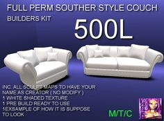 MEW CATZ FULL PERM SOUTHERN STYLE COUCH ( BOXED )