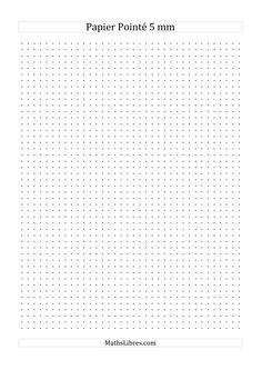 Papier pointé métrique 5mm (noir) #mathslibres