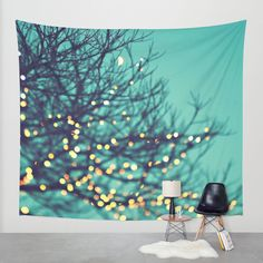twinkle lights Wall Tapestry by Sylvia Cook Photography | Society6  #tapestry #homedecor