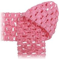 Crochet by the Yard - soft stretchy fabric, headbands