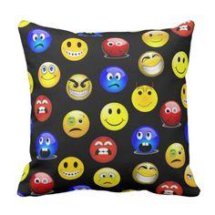 Emoji Emoticon Funny Face Custom Reversible Pillow