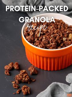 This delicious Protein Packed Granola Recipe contains different sources of protein – including 310 Organic Vanilla, egg whites, and slivered almonds Protein Powder Recipes, Protein Shake Recipes, Protein Shakes, Healthy Breakfast Recipes, Healthy Recipes, Protein Pack, Protein Sources, Calorie Counting, Smoothie Bowl