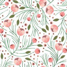 Wasserfarben-Blumendesign auf Spoonflower - Blumenstoff & Blumentapete