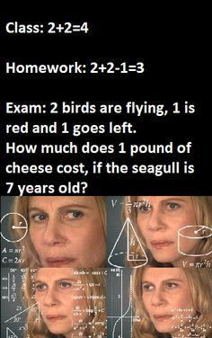 Exams Funny, Funny School Jokes, Some Funny Jokes, Crazy Funny Memes, School Memes, Really Funny Memes, Funny Laugh, Stupid Funny Memes, Funny Relatable Memes