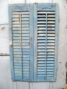 French Blue shabby vintage wooden shutter by AnitaSperoDesign, $52.00