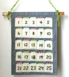 Rachel's creative eye knows no bounds. You may remember the great room she pulled together for her son, Sebastian. Well, now Rachel shows us how to pull together a great little felt advent calendar.