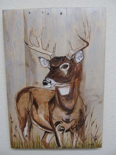 Artist signed Original acrylic art on recycled wood art canvas by RedeemWood on Etsy