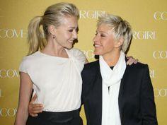41 Celebrity Ellen Ideas Ellen And Portia Ellen Degeneres And Portia Portia De Rossi