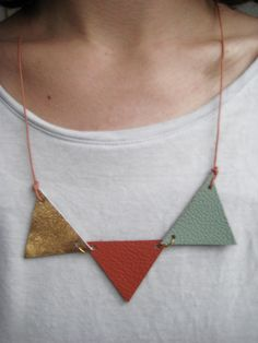 "Necklace ""Bunte Dreiecke"" by liebelu  (http://de.dawanda.com/product/27179341-Halskette-Bunte-Dreiecke)"