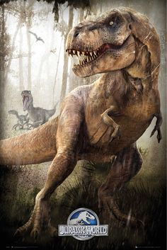 Jurassic World T Rex - Official Poster. Official Merchandise. Size: 61cm x 91.5cm. FREE SHIPPING