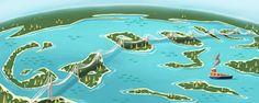 2013.04.10  瀬戸大橋開通25周年で瀬戸内海を鳥瞰で見たイラストのロゴに!