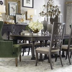 Bassett 4513-K4676 Emporium Rectangular Dining Table available at Hickory Park Furniture Galleries
