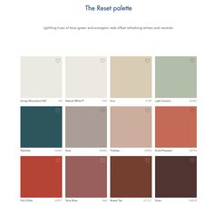 Dulux Reset Palette 2021 Yearly, Palette, Wellness, Trends, Home, Ad Home, Pallets, Homes, Haus
