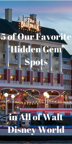 """5 of Our Favorite """"Hidden Gem"""" Spots in All of Walt Disney World - 2018 Today, I hope to share quite the opposite perspective and share a few of the somewhat """"little known"""" locations at Walt Disney World that aren't attractions, stores, or even dining loc Disney World Hotels, Disney World Resorts, Disney World Tipps, Disney World Secrets, Disney World Vacation Planning, Disney World Florida, Disney World Parks, Disney Planning, Disney World Tips And Tricks"""