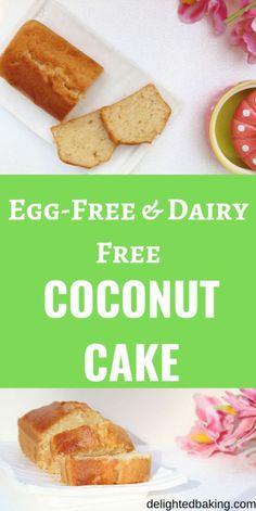 The Best Ever Vegan Coconut Cake Recipe. This vegan coconut cake is soft moist and delicious! Vegan Coconut Cake, Coconut Flour Cakes, Coconut Flour Recipes, Almond Cakes, Vegan Cake, Vegan Desserts, Coconut Oil Cake Recipe, Vegan Sweets, Egg Free Cakes