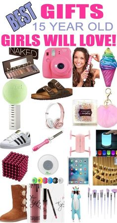 Gifts 15 Year Old Girls! Best gift ideas and suggestions for 15 yr old girls. Top presents for a girl on her fifteenth birthday or Christmas! Coolest gifts for that special girl. Get the top gifts on any tween or teen girls gift list or gift guide now! Teen Girl Birthday, Birthday Presents For Girls, Christmas Gifts For Teen Girls, Presents For Best Friends, Tween Girl Gifts, Birthday Gifts For Best Friend, Best Friend Gifts, Best Gifts, Top Gifts