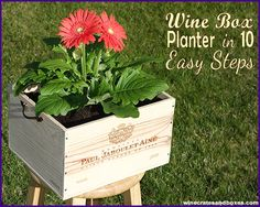 DIY Wooden Wine Box Garden Planter