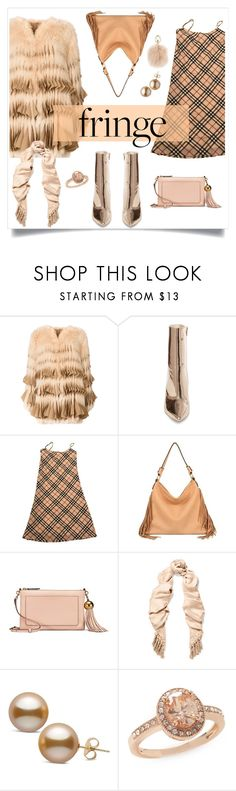 """""""Shimmy Shimmy: Fringe"""" by alinepinkskirt ❤ liked on Polyvore featuring Givenchy, Steve Madden, Burberry, Mellow World, Tory Burch, Chloé, New Directions and Furla"""