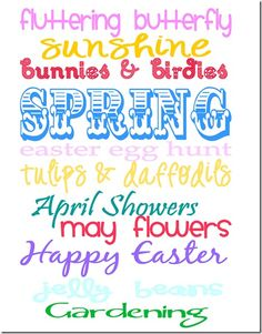 Believing Boldly: Happy Spring–Free Printable