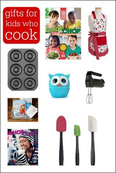 This Gift Guide For Kids Who Love To Cook Will Help Inspire Your Budding Chef Teaching Kids To Cook Is An Essential Part Of Parenting And These Gifts Make