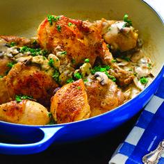 Pot-Roasted Chicken w/ Fresh Herbs