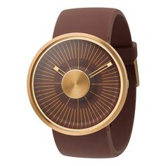 Hacker Watch Brown Gold-Toned