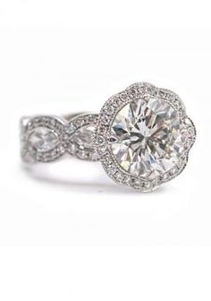 Katharine James Bella's Love Platinum 5.69ctw Diamond Ring | Oster Jewelers  #MyBridalStyle #MyDiamondStyle
