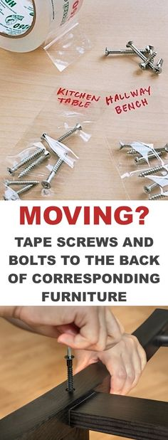 Moving tip for furniture... Lots of clever moving, packing and organizing tips for houses, apartments and out of state or long distance moves! Moving into a new house? Here you will find clever moving hacks everyone should know, including a moving checklist. Listotic.com