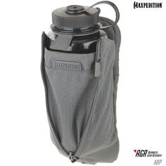 The XBP Expandable Bottle Pouch is designed to attach to MOLLE-compatible bags and packs. It has TPU-840D nylon composite backing and comes with two TacTie PJC5 Polymer Joining Clips for modular attachment. The XBP fits a wide range of common bottles including the 32 oz. Nalgene widemouth bottle. www.Maxpedition.com
