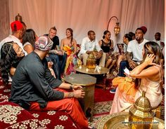 Miami Heat Players and their partners lounging Moroccan Style