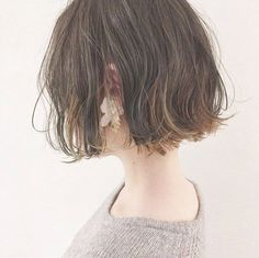 Page 48 of 63 - Another! Shot Hair Styles, Curly Hair Styles, Short Bob Hairstyles, Pretty Hairstyles, Bob Perm, Cabello Hair, Hair Arrange, Cut My Hair, Girl Short Hair