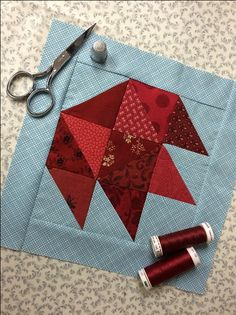Celebrate the fall season and use up some gorgeous, richly colored scraps at the same time with this beautiful maple leaf quilt block.