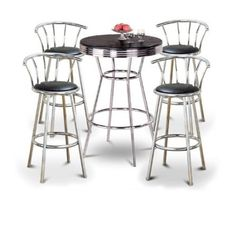 5 PIECE 31″ ROUND BAR SET | Best Furniture Review