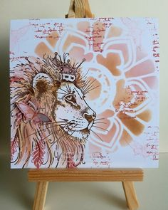Pink Ink Designs Lion stamp with Bee Crafty Mandala Inkable xx Paper Crafts, Diy Crafts, Cat Cards, Ink Stamps, Animal Cards, Altered Art, Cardmaking, Girly Girls, Crafty